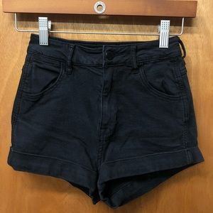 Kendall and Kylie black jean shorts